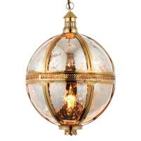 Modern Globe Pendant Ceiling Light Brass Lamp Only - Brass ...