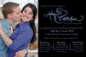 Mine and Amber's engagement announcement