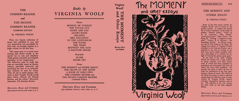 Moment and Other Essays, The Virginia Woolf