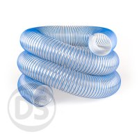 Heavy Duty Flexible Ducting Hose PU Blue Spiral 050mm ...
