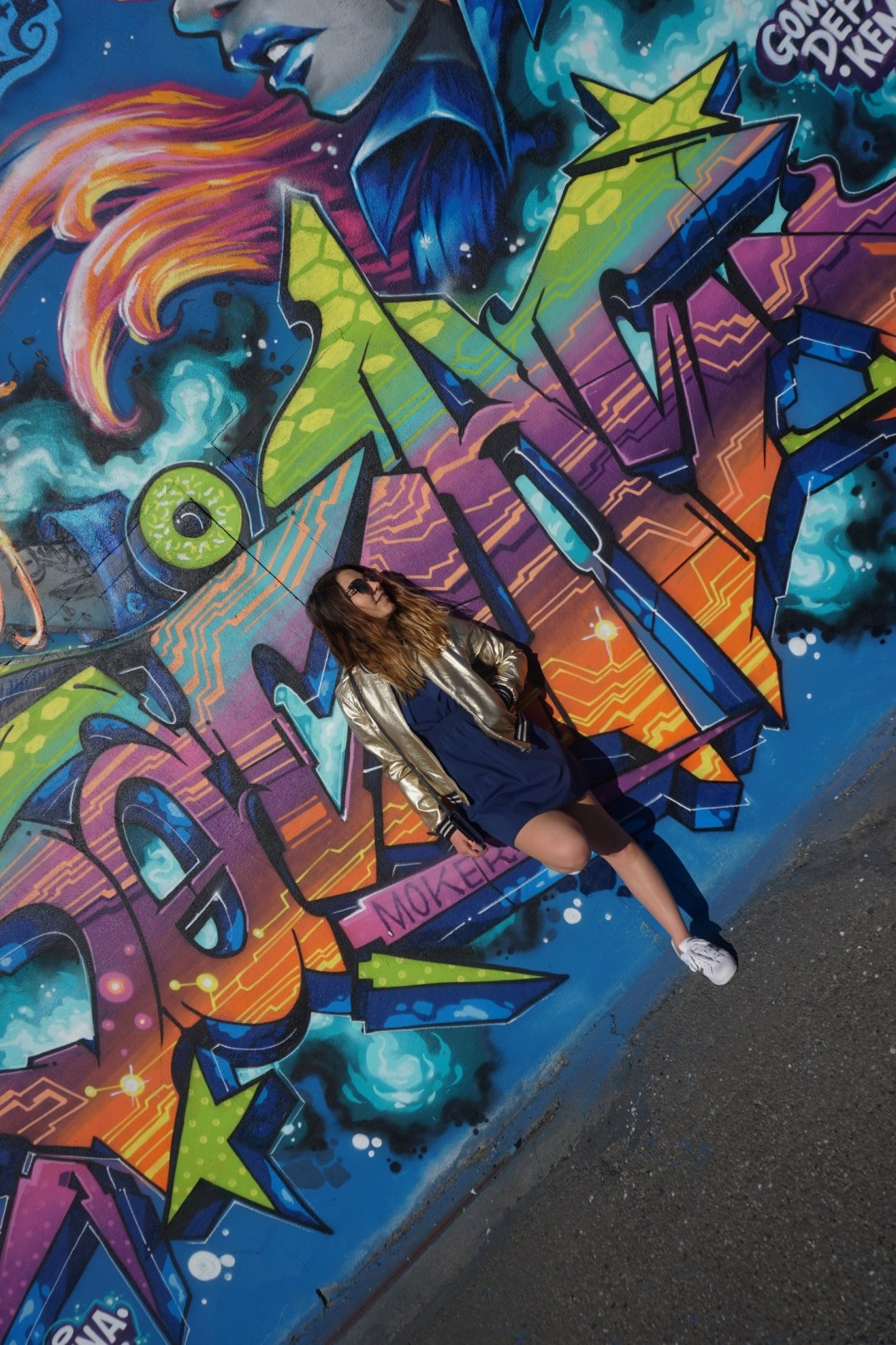LOOK SPORTWEAR CHIC GOLD SHOOTING PHOTO BLOG MODE BLOGUEUSE BORDEAUX STREET ART BACALAN 14