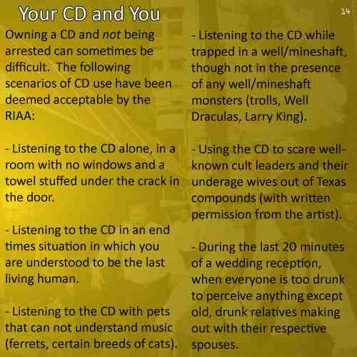 RIAA LINER NOTES