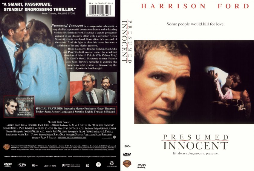 presumed innocent - Movie DVD Scanned Covers - 211presumed innocent - movie presumed innocent