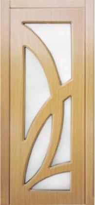 Межкомнатные двери Лиана миланский орех с матовым стеклом сатин