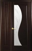 Полуторные двери ПВХ Эскада ПГ венге