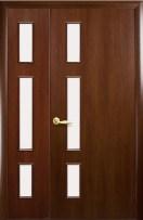 Двери двустворчатые Герда Новый Стиль орех 3D