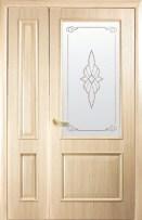 Полуторные двери Новый Стиль Вилла ПГ ясень
