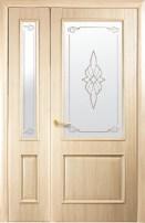 Полуторные двери Интера Вилла Р2 ясень