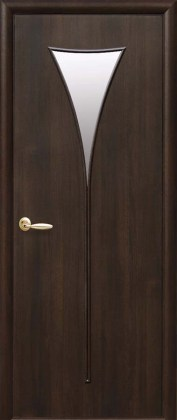 Двери Бора Новый Стиль каштан со стеклом