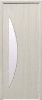 Двери Луна Новый Стиль дуб жемчужный со стеклом сатин