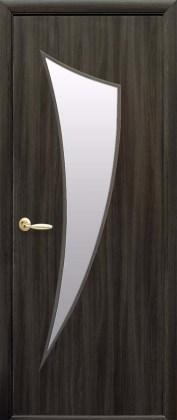 Двери Парус Новый Стиль кедр со стеклом сатин