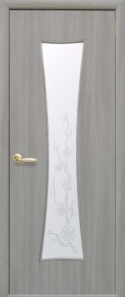 Двери Часы Новый Стиль ясень патина со стеклом Р4