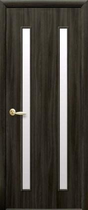 Двери Вера Новый Стиль кедр со стеклом сатин