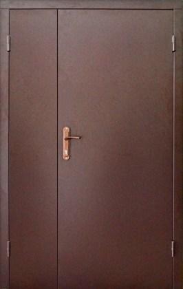 Дверь полуторная металлическая