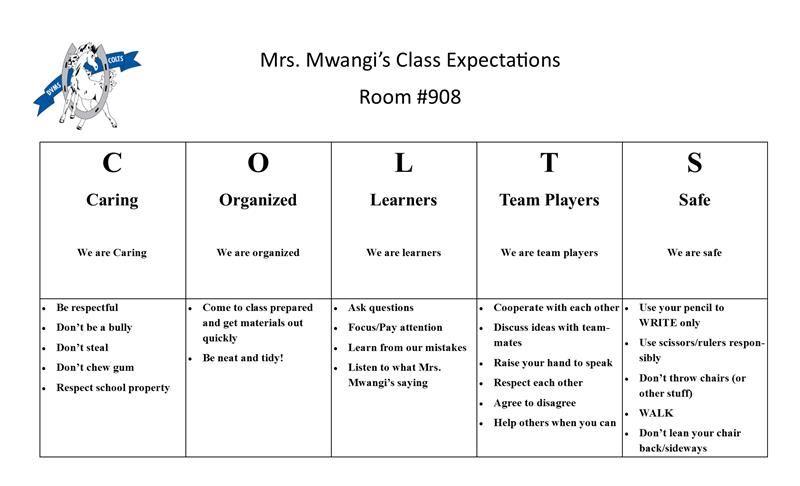 Mwangi, Nicole / Classroom Expectations