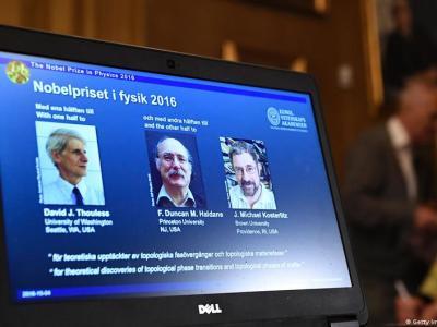 ثلاثة علماء بريطانيين يفوزون بجائزة نوبل للفيزياء لعام 2016