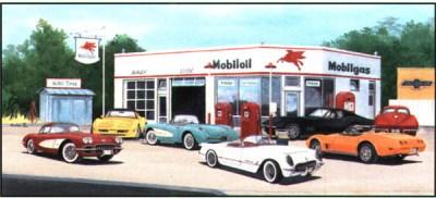 Dennis Wiskow's Auto Art Gallery - Corvettes