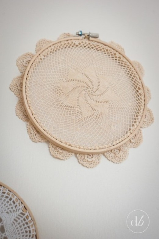 Lace doily embroidery hoops dwell beautiful