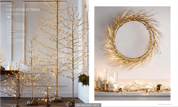 Well, Restoration Hardware is helping us get there with its gorgeous holiday collection, complete with starlit trees, handcrafted ornaments, elegant barware and .
