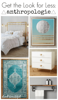 Get the Look for Less: Anthropologie Bedroom - Dwell Beautiful