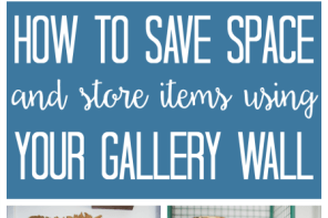 How to Save Space by Storing Items In Your Gallery Wall