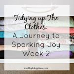 Tidying up the Clothes: A Journey to Sparking Joy Week 2