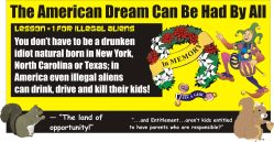 The American Dream illegal aliens can kill their kids DUI