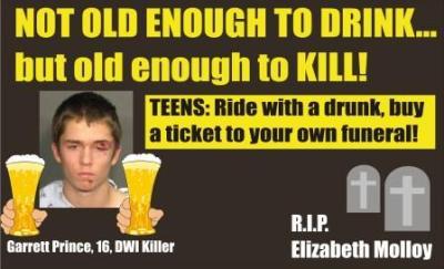Garrett Prince killed Elizabeth Molloy DWI Raleigh NC 010912