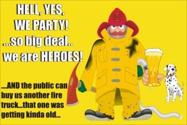 Firemen party