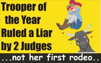 Trooper of the Year ruled Liar by 2 Judges