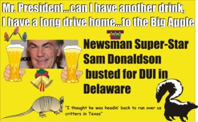 Sam Donaldson busted for DUI