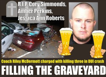 Riley McDermott filling the graveyard while DUI