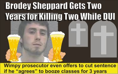 Brodey Sheppard gets two years for killing two