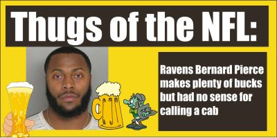 NFL player Bernard Pierce DUI in Towson Md