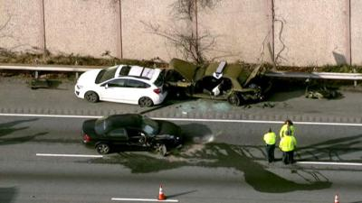 I-95+MD+State+Trooper+Crash+123115 Photo courtesy of NBC 4 News