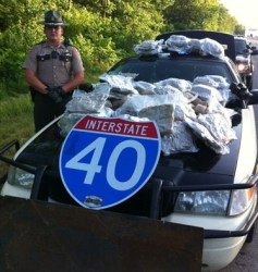 Tennessee traffic stop and lead lined containers with 116 pounds of pot 052816