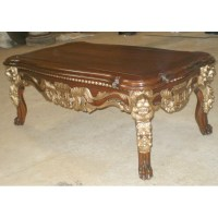 classic furniture lion coffee table design - Mahogany ...