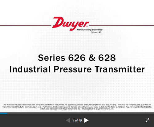 Series 626  628 Industrial Pressure Transmitter which applies to