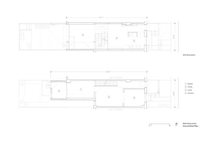 Ground floor plan. Courtesy of Aleph-Bau