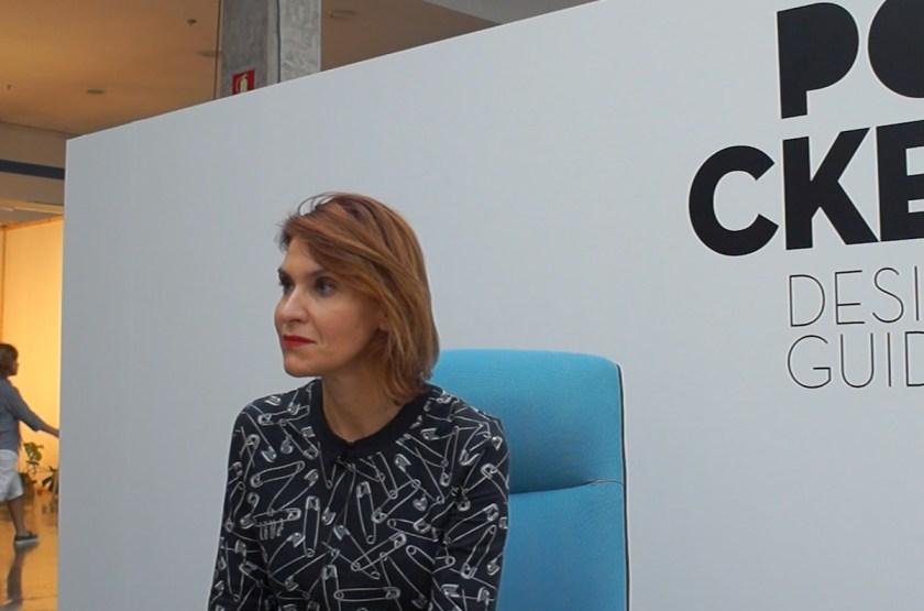 Nieves Contreras responde al cuestionario de POCKET durante la Feria Hábitat Valencia el pasado mes de septiembre.