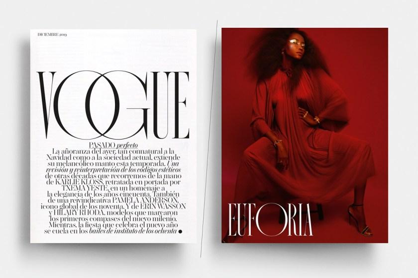 Nostalgia. Diseño de alfabeto o familia completa de Extratype / Extra Estudio para Vogue España.