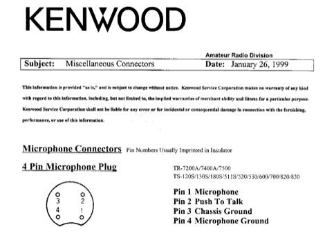 Kenwood 4 Pin Mic Wiring - Carbonvotemuditblog \u2022