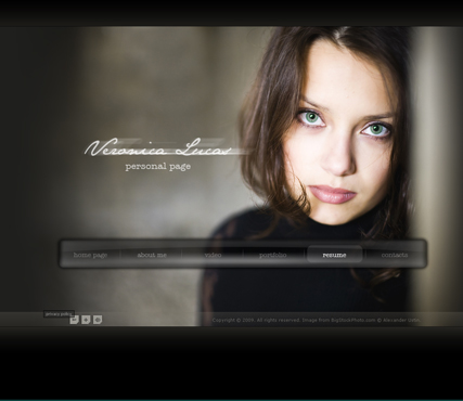 Personal Page Flash Photo  Video Gallery Template