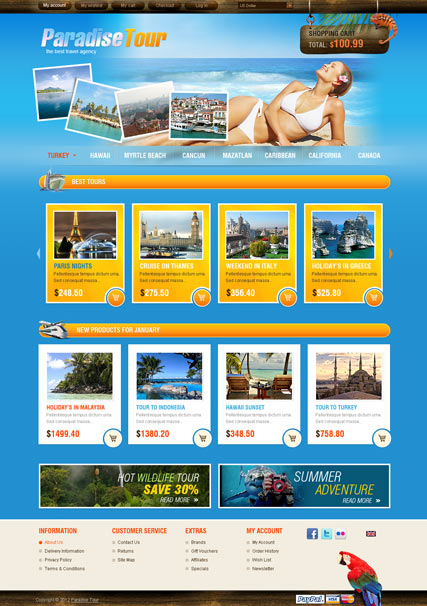 Travel Agency OpenCart Template - OpenCart Community