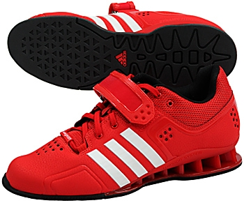 Adidas Adipower Weightlifting Shoes Red Black White Model