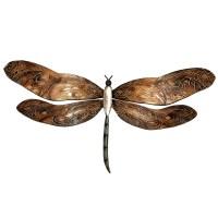 Eangee M404 Earthtoned Dragonfly Metal Wall Art