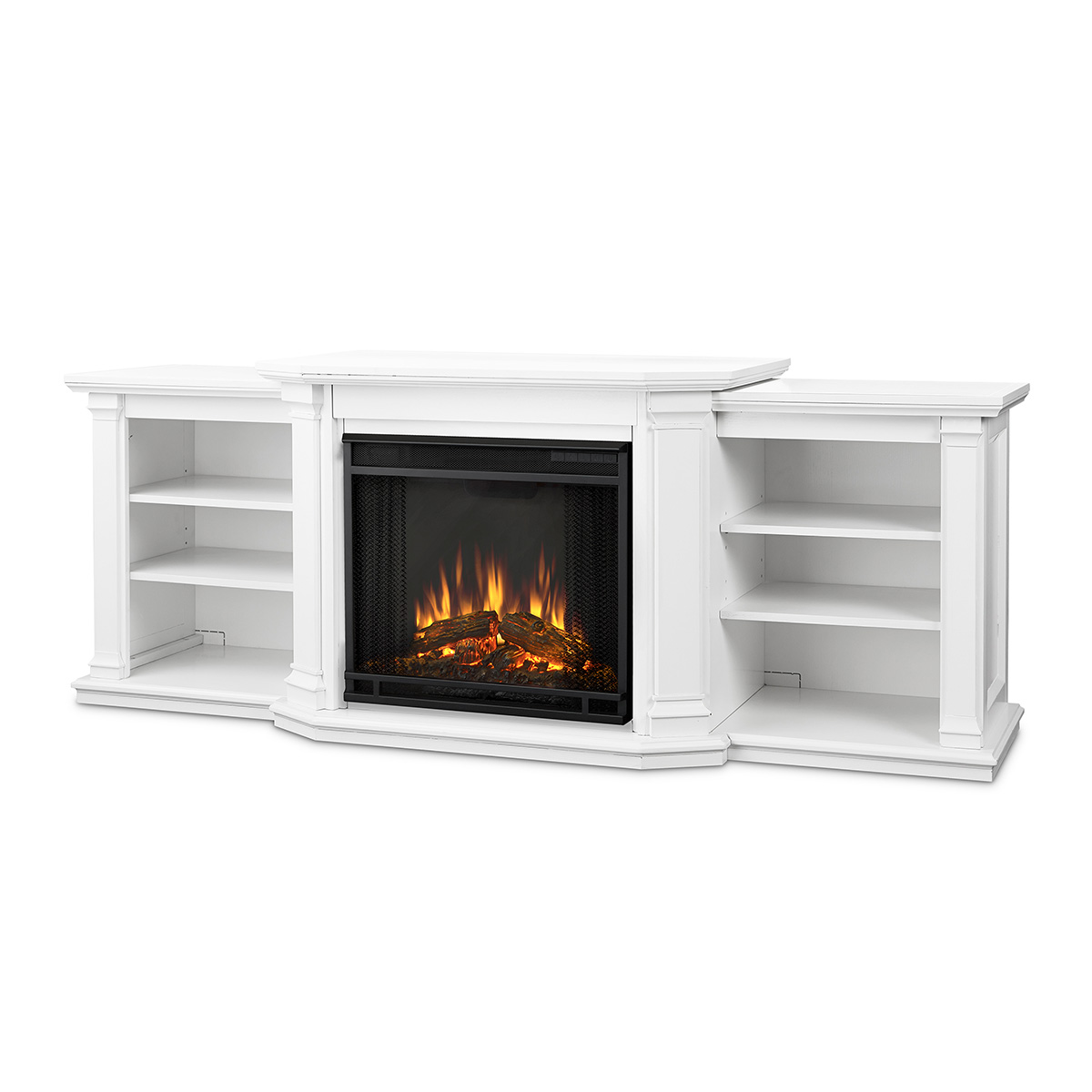 Real Flame 7930e W Valmont Tv Stand W Electric Fireplace