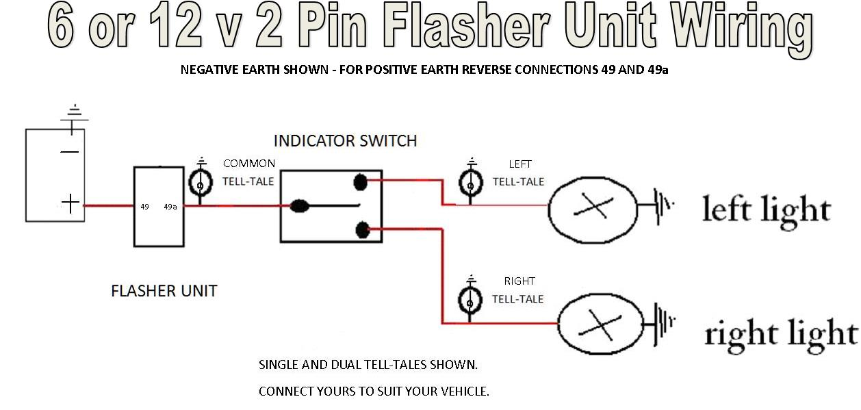 2 Prong Flasher Wiring Diagram | Wiring Schematic Diagram on