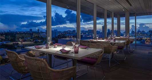 Miami Beach Wallpaper Hd Juvia Restaurant Miami Building Florida E Architect