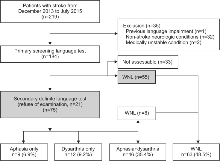 Impact of Co-occurring Dysarthria and Aphasia on Functional Recovery
